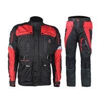 Мотоцикл устанавливает Для мужчин куртка штаны Зимние Водонепроницаемый мотокроссу одежда Полная защита Велоспорт костюм наборы для 4 сез