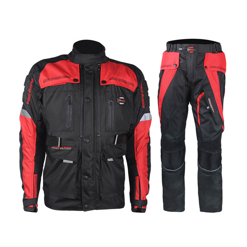 Moto Ensembles Hommes de Veste Pantalon D'hiver Étanche Motocross Racing Vêtements Pleine Protection Vélo Costume Ensembles pour 4 Saisons