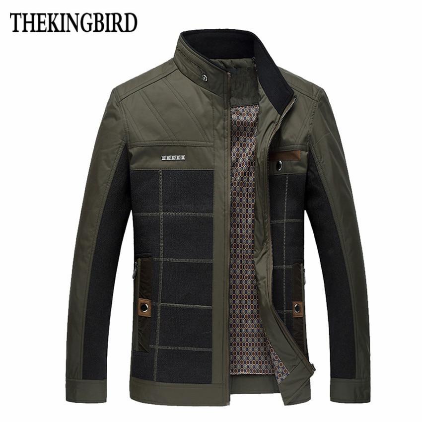 Khaki Spring férfi vékony szakasz kabát meleg vékony szakasz üzleti alkalmi kabát felsőruházat férfi 4xl ruházat férfi fényes kabát