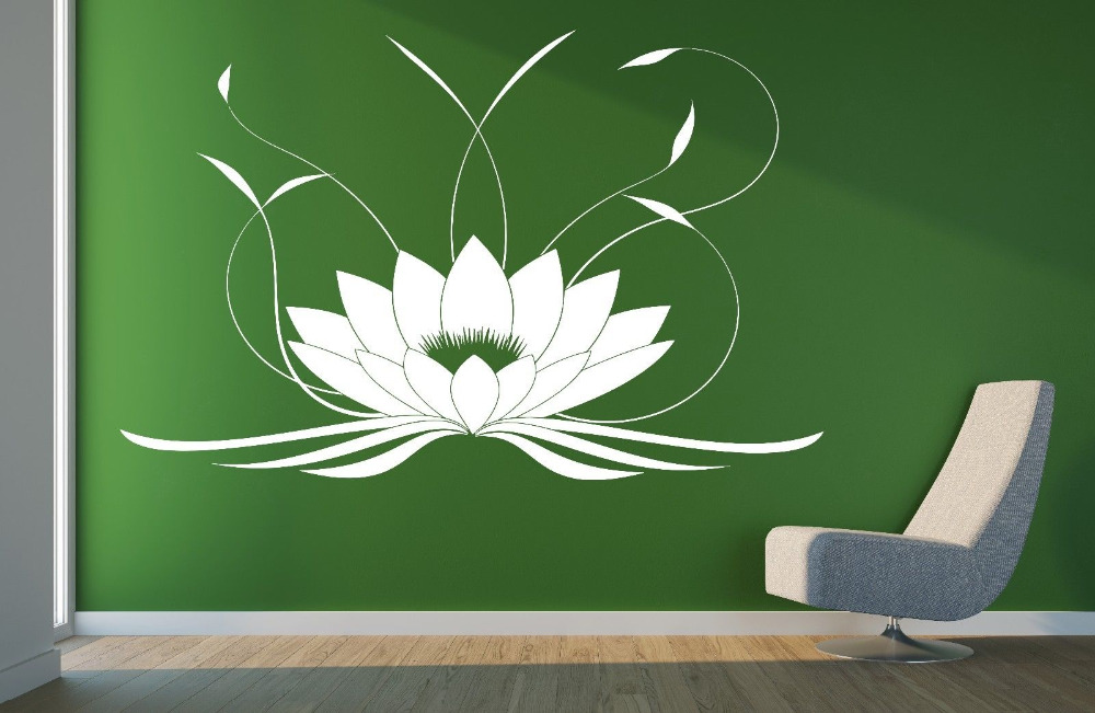 Customize Lotus Flower Buddha Yoga Studio Meditate Decor Wall Sticker Vinyl Decal Vinyl