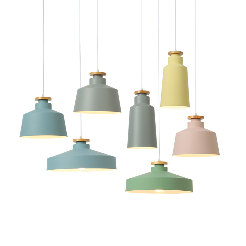 Modern pendant ceiling lamps, E27 Aluminum Colorful Pendant Lights, Home restaurant decoration lighting lamps Nordic simple nordic pendant lights european pendant lighting fixture home indoor lighting american country hanging lamps aluminum drop light