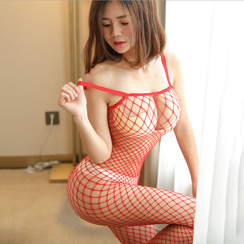 Fishnet Teddy Bodysuits catsuit Sexy Lingerie Women Erotic Underwear Bodystockings Baby Doll Intimates Mesh Body Sexy Stockings 4