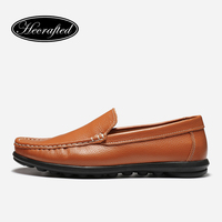 38 47 Full Grain Leather Rubber Sole Size Hecrafted Brand Summer Handmade Flat Men Loafers 8377
