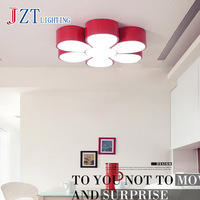 T Lovely Cute Flower Acrylic Ceiling Light Children S Room Lamp Creative Colorful Sweety Home Lighting