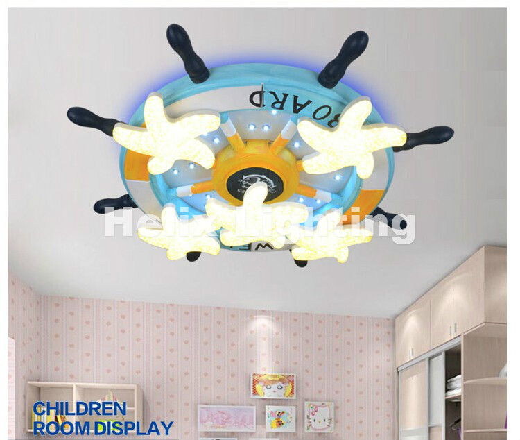 Free Shipping Ceiling Light For Kids Room D650mm 2 Colors Children Ceiling Lamp Modern Light Fixture Ceiling Lamp Remote Control