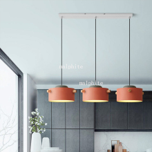 Nordic Iron Pendant Lights LED Living Room Restaurant Bar Reading Lamp Macaron Lofe Cafe Gallery Hanging Decor Art