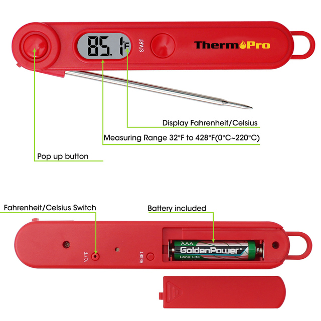 ThermoPro TP-03 Ultra Fast & Accurate Digital Kitchen Food Meat Cooking Thermometer