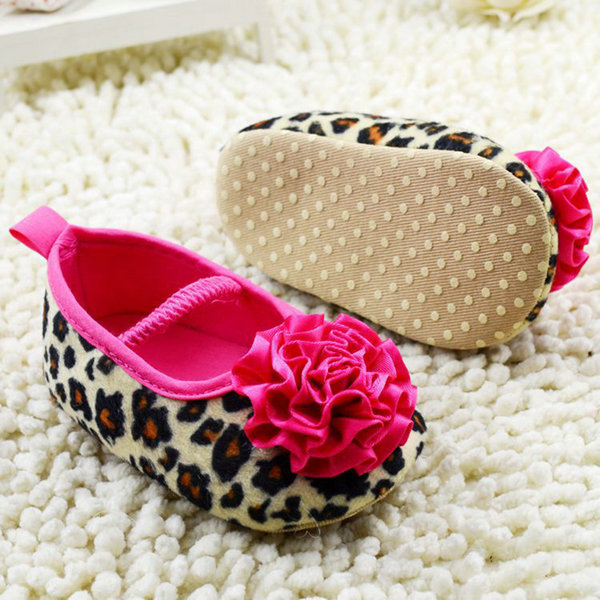 2018fashion Kids Girl Leopard Baby Shoes Peony Flower Infant Toddler Crib Shoes 0-18months Keep You Fit All The Time First Walkers
