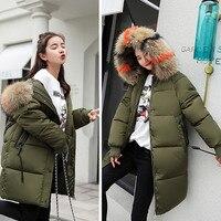 S-3XL плюс Размеры осень-зима Для женщин Повседневное хлопковые куртки на пуху с капюшоном ветровки одежда теплая Женская зимняя обувь пальто...