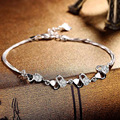 Factory Direct S925 Silver Bracelet Korean Fashion Female Temperament Wild Silver Inlaid Jewelry Wholesale