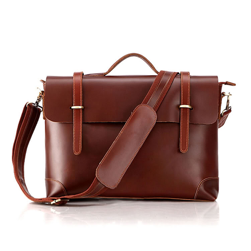 Brand Men casual Vintage genuine Leather bags Men business Crossbody Bag Shoulder Messenger Bag Briefcase handbags freeshipping padieoe men s genuine leather briefcase famous brand business cowhide leather men messenger bag casual handbags shoulder bags