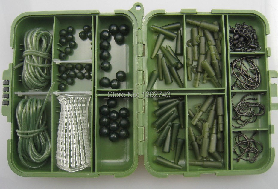 30 PIECE LEAD SAFETY CLIP SYSTEM in BLACK tail cones swivels fishing carp tackle