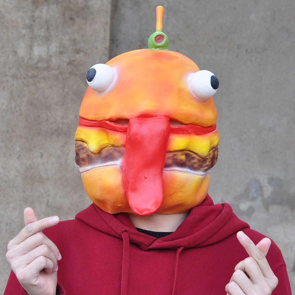 Battle Royale Beef Boss Mask Cosplay Durr Burger Full Face Latex Masks Helmet Halloween Party Props DropShipping
