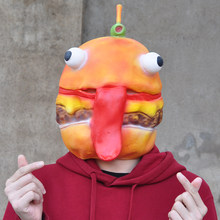 Battle Royale Beef Boss Mask Cosplay Durr Burger Full Face Latex Masks Helmet Halloween Party Props DropShipping(China)
