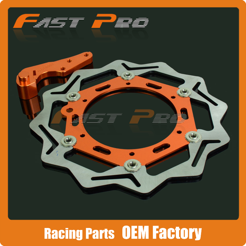 270MM Front Floating Brake Disc Rotor & Caliper Bracket Adapter for KTM EXC SX MX SXS MXC XC-W EXC-F XC-F XC SX-F LC4 125-640 keoghs motorcycle brake disc brake rotor floating 260mm 82mm diameter cnc for yamaha scooter bws cygnus front disc replace
