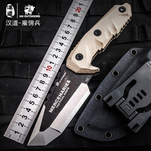 HX OUTDOORS Mercenaries High Hardness Straight Knife D2 Steel G10 Handle Survival Camping Knives With Kydex Multi Hunting Knife high quality outdoors tool knives bolte kydex sheath tactical camping hunting diving knife d2 steel blade black g10 handle