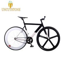 купить Fixed Gear Bike 54cm 58cm frame  single speed bike  frame  Aluminum alloy Track Bicycle 700C wheel DIY color по цене 27680.76 рублей