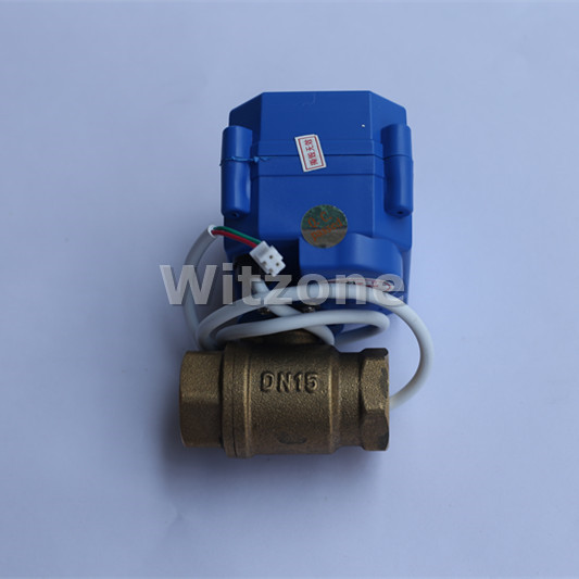 1/2 motorized ball valve DN15 for Hikada WLD-807 Water Detection Alarm Equipment,Free Shipping free shipping 1 2 floating ball valve automatic float valve water level control valve f water tank water tower