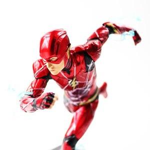Image 5 - 16cm 플래시 아이언 스튜디오 Justice League Art Scale 1/10 PVC 액션 피규어 소장 모델 장난감