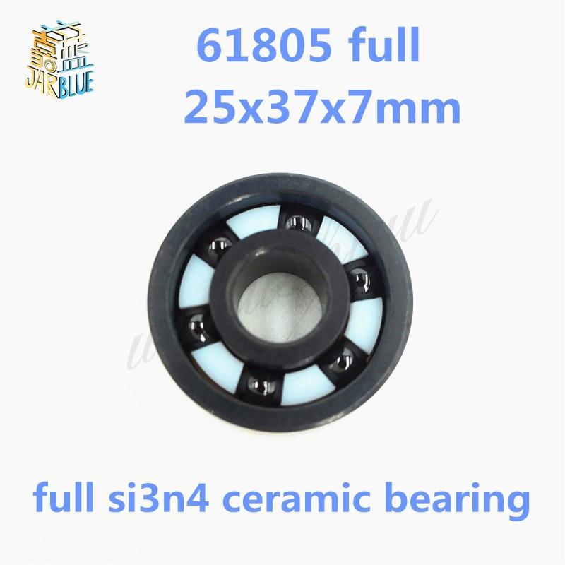 Free shipping 6805 61805 full SI3N4 silicon nitride ceramic deep groove ball bearing 25x37x7mm bike bearing,MTB bicycle bearing цена 2017