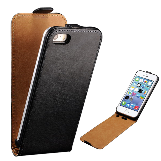 Grenuine Leather Case For iPhone 5 5S SE Coque Luxury With Card Slot Fashion Flip Style Phone Cover For iPhone 5s 5 Case Cover