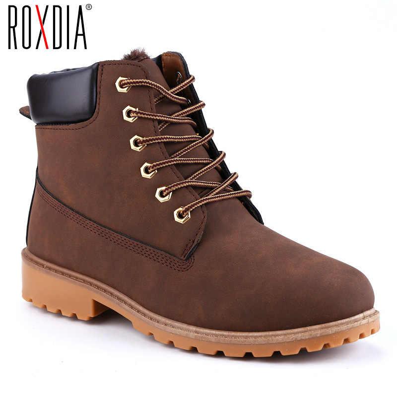 ROXDIA ฤดูใบไม้ร่วงผู้หญิงฤดูหนาวรองเท้าบู๊ทใหม่แฟชั่นผู้หญิงหิมะรองเท้าสำหรับสุภาพสตรีรองเท้าพลัสขนาด 36- 41 RXW762