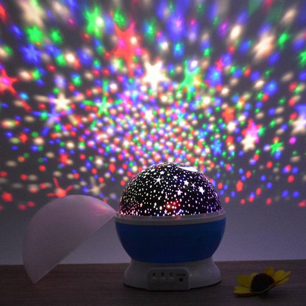 HiMISS Luminous Toys Romantic Starry Sky LED Night Light Projector Battery USB Night Light Birthday Toys For Children