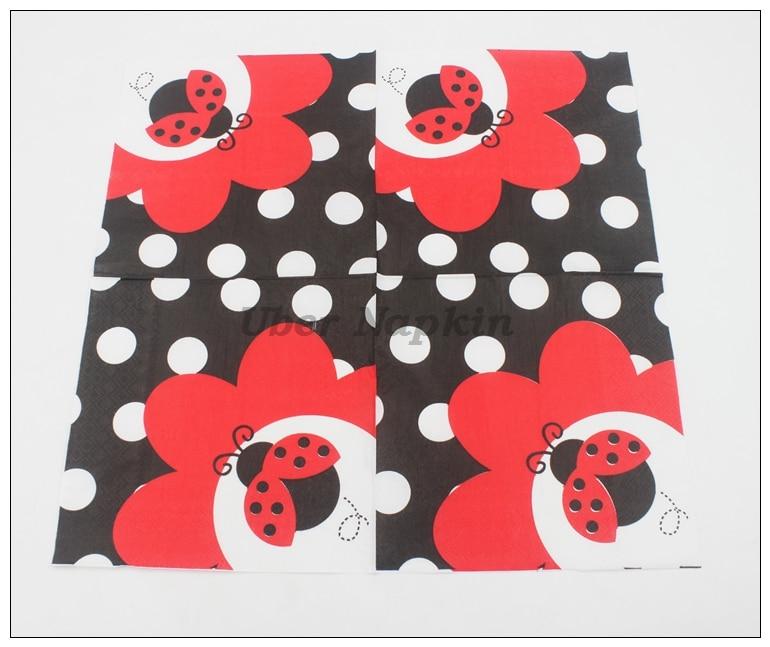 [Rainloong] del insecto del insecto festivo y fiesta de tejido servilleta de papel servilleta decoupage 33 cm * 33 cm 20 unids/pack/lot