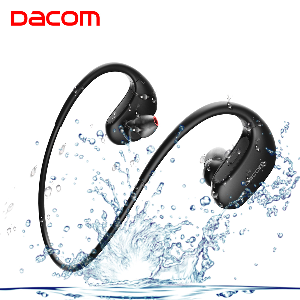 DACOM L05 Wireless Headphones Sports Bluetooth Headset Noise Cancelling Stereo Bass Earphone with Mic IPX7 Headphone for Phone folding hifi deep bass earphone wired wireless stereo bluetooth headphone over ear noise cancelling headset with mic fashion