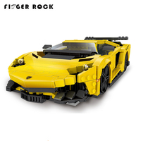 XB03008 Block Creative MOC Technic Series The Yellow Flash Racing Car Set Educational Building Blocks Bricks Toy 924Pcs