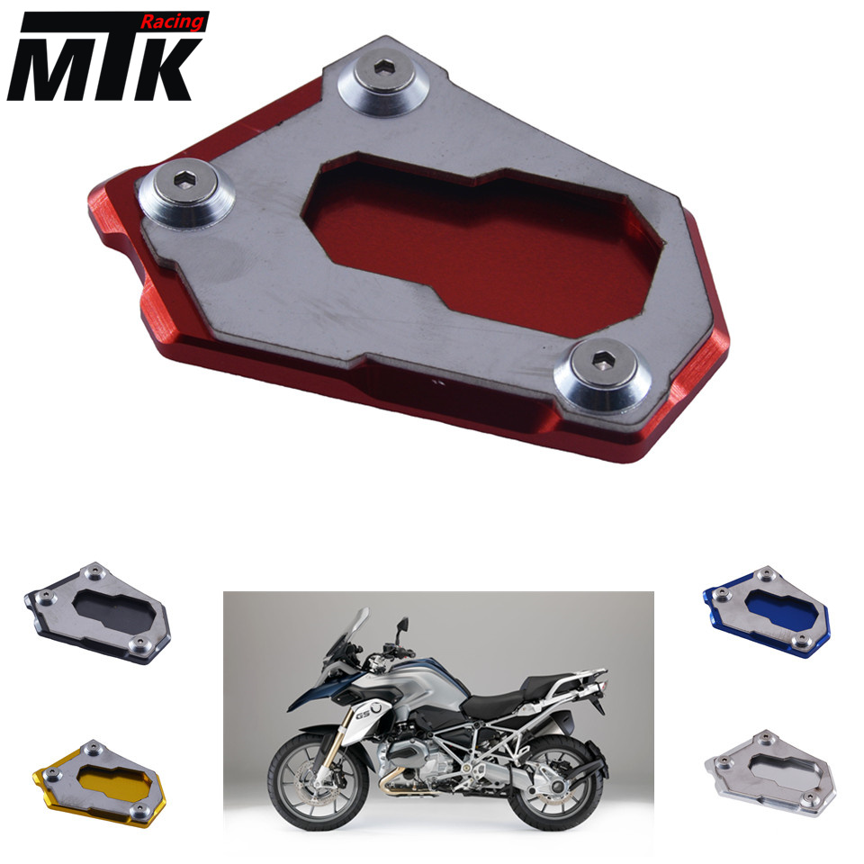 For BMW R1200GS r1200gs  2012-2016 CNC Kickstand Side Stand Enlarger Extension Plate Pad motorcycle side stand enlarger cnc kickstand side stand extension enlarger pate pad for bmw f800gs