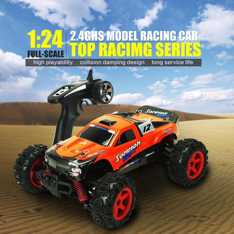 4WD Radio RC Car 2.4G 4CH 1:24 Scale High Speed 4WD Off Road Racer RC Remote Control Car Anti-Shock Buggy Max Speed 40Km/h src rc car 1 8 scale electric car 4wd brushless motor rc buggy sep0811pro high speed
