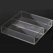 Countertop Acrylic Clear Serving Tray With Two Pockets - DISCOUNT ITEM  5% OFF All Category