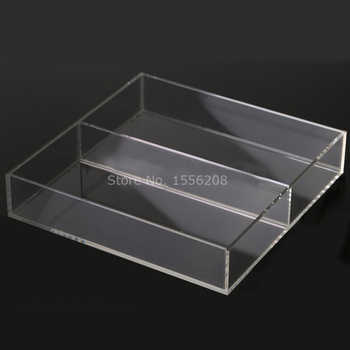 Countertop Acrylic Clear Serving Tray With Two Pockets - DISCOUNT ITEM  0% OFF All Category