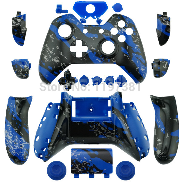 blue splatter for Xbox One Hydro Dipped Replacement Controller Shell Mod Kit + Buttons for Microsoft Xbox one 1 controller 361 ° дети мальчики лета новой рубашка с короткими рукавами поло n51722231 fanta orange 140