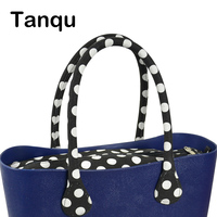 TANQU Short Long Round Flora Canvas Fabric Handle With Insert Lining For Obag Classic Mini O
