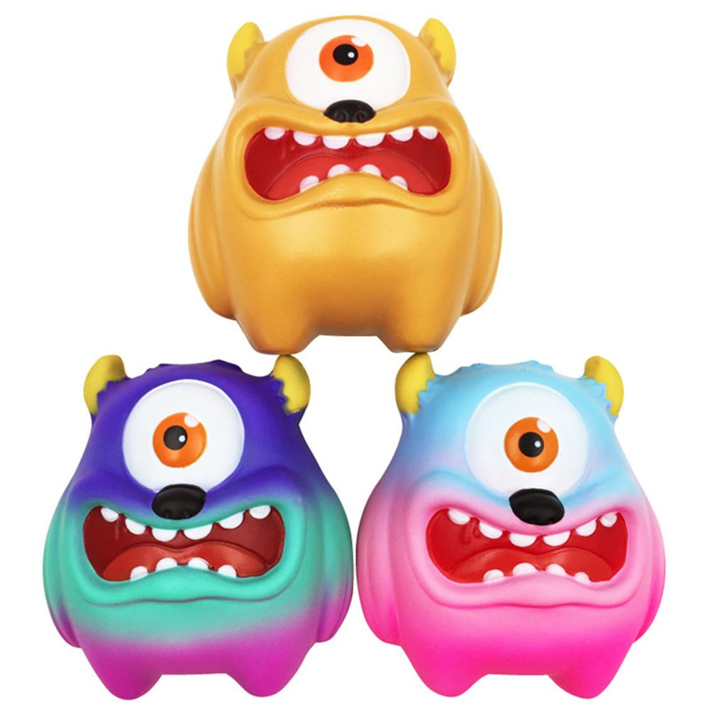 Lovely One-eyed Monster Slowly Rebounding Toy Decompression Fun Toys Small Gift PU Monster Anti Stress Relief Toys