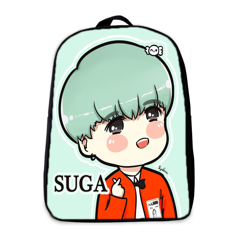 BTS Backpack Jin Teenagers Hip Hop Girls Boys School bag Male mochila Suga Children bookbag EXO/BAP Daily Laptop Backpack Kpop hynes eagle 3 pcs set 3d letter bookbag boys backpacks school bags children shoulder bag mochila girls exo printing backpack