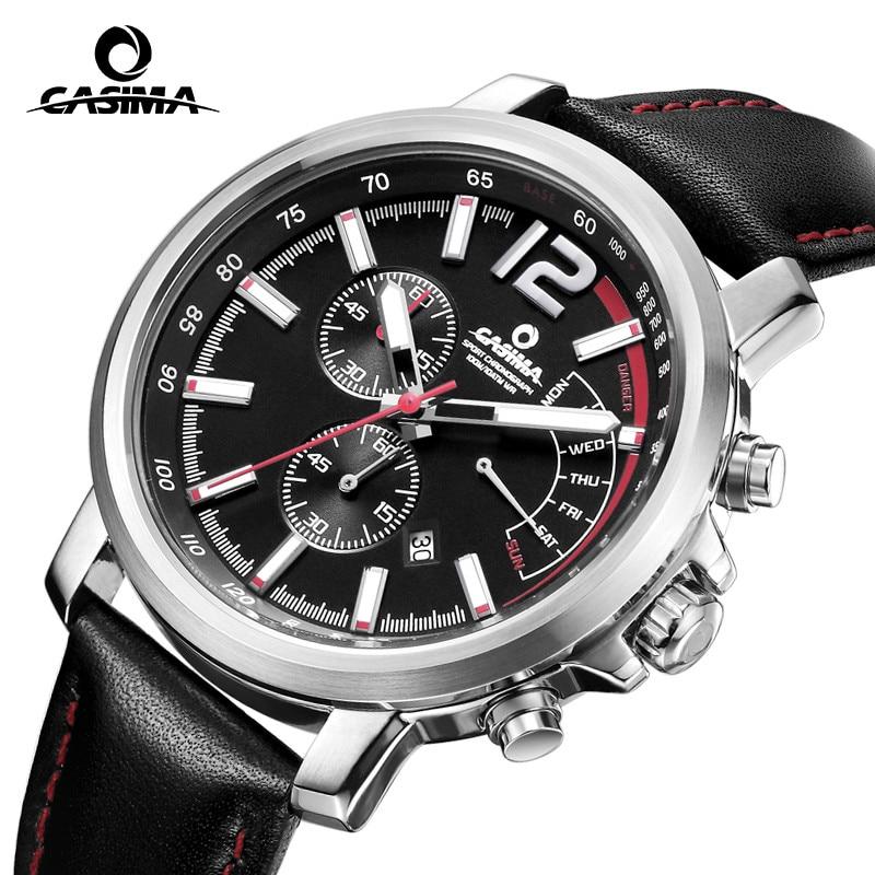 New Luxury brand watches men  casual charm function chronograph sport quartz wrist watch luminous waterproof 100mCASIMA 8305 цена и фото