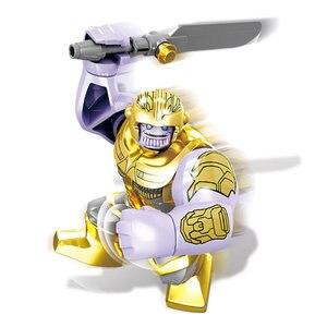 Image 5 - 16pcs Avengers Infinity War Figure Set Bricks Super Hero Iron Thor Thanos Peter Hulk Black Panther Building Blocks Model Toys