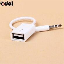 3,5 AUX Jack аудио разъем для USB 2,0 конвертер USB Aux кабель Шнур для автомобиля MP3 динамик U диск USB флэш-накопитель аксессуары