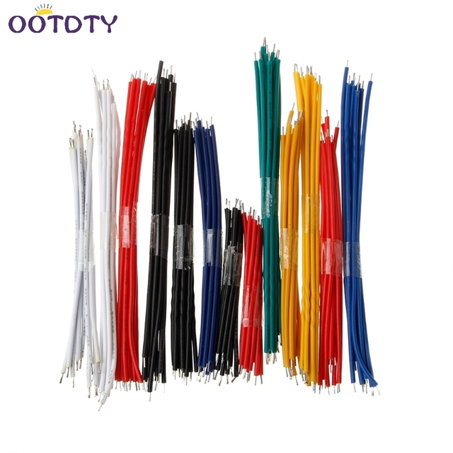 13 Value 24AWG Breadboard Jumper Cable Wire Kit Double Tinned ...