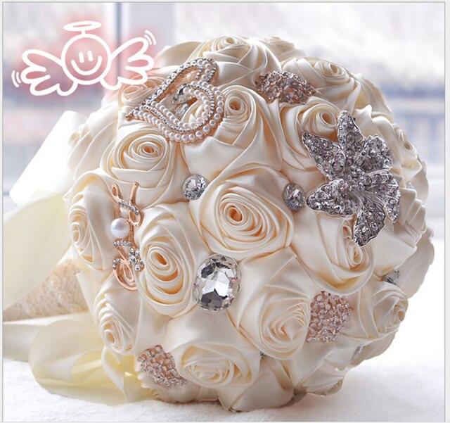 Новое Прибытие 2017 Популярные высокое качество брошь Цветы Свадебные Букеты Элегантный Перл Бисера свадебный букет
