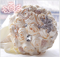 New Arrival 2017 Popular high quality brooch Flowers Bridal Bouquets Elegant Pearl Beaded wedding bouquet