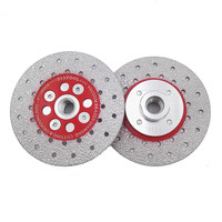DIATOOL 2pcs Double Sided Vacuum Brazed Diamond Cutting Grinding Disc With M14 Thread Premium Quality