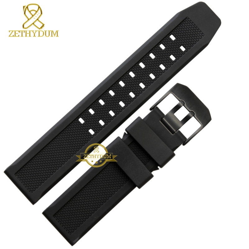 Silicone wristband bracelet wristwatches band Rubber strap watchband waterproof  22mm 23mm white black color accessories belt silicone rubber watchband double side wearing strap for armani ar watch band wrist bracelet black blue red 21mm 22mm 23mm 24mm