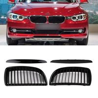 Car Styling Gloss Black A Pair Air Intake Grille Kit Decoration Sticker For BMW 3 Series E90 Automobiles Racing Grills