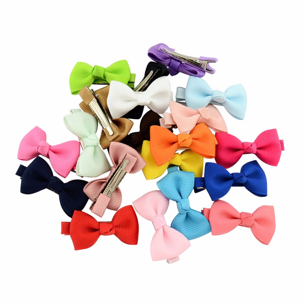 1PCS Colorful Barrettes for Girls Boutique Hair Clip Bows Ribbon Hairpins Hairgrip Headwear Best Holiday DIY Gift For Kids 2017 10pcs lot halloween pumpkin hair clip girls hair accessories hairclips hairpins fashion women headwear barrettes party supplies