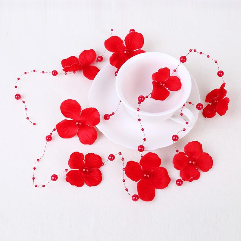 fashion red bridal manual net yarn