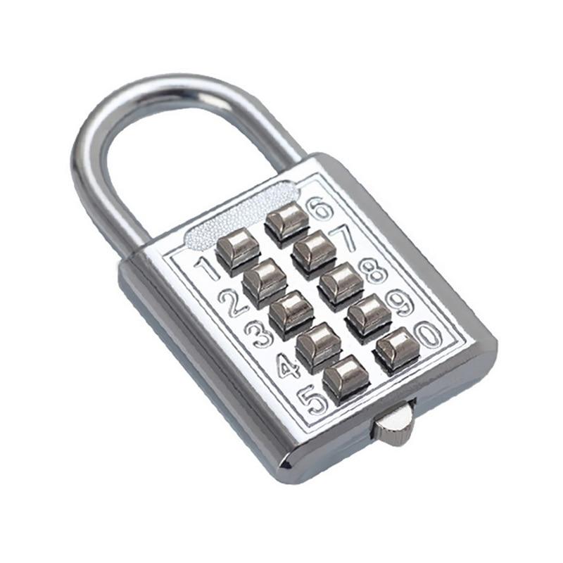 4 Digit Push Button Combination Padlock Luggage Travel Code Lock ME